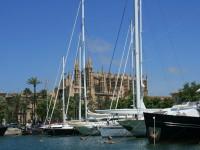 Segelschiffe im Hafen von Palma de Mallorca
