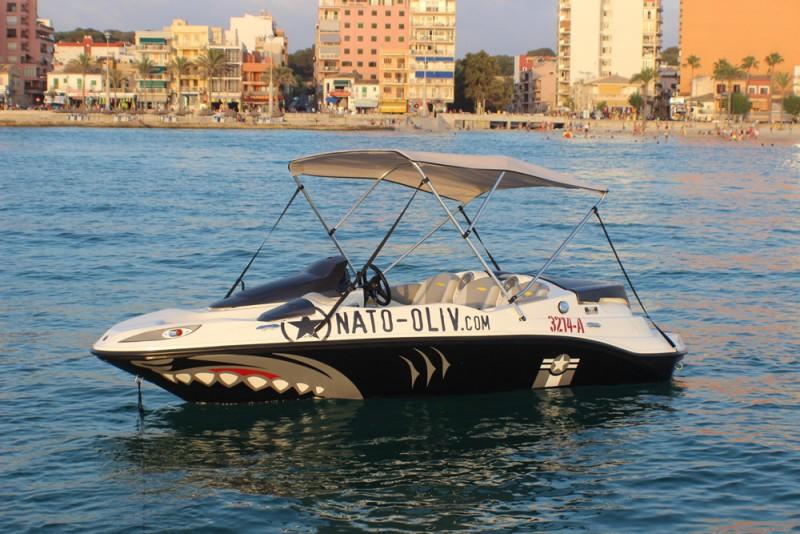 Jetboot an der Playa de Palma