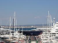 Al Mirqab Super Yacht in Palma 133 Meter lange Super Yacht im Hafen von Palma de Mallorca die Megayacht von 2009 News Portal Mallorca